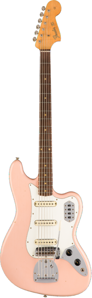 Fender Custom Shop 60s Journeyman Relic Bass VI Aged Shell Pink